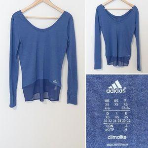 Adidas Climalite Blue Women's T-shirt -XS/4-6
